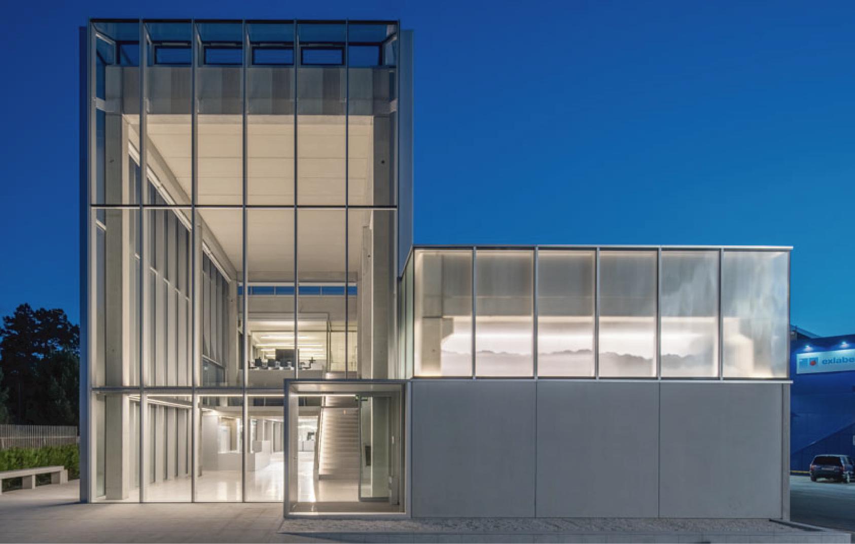 Nueva sede para las oficinas de Exlabesa - Entrada edificio