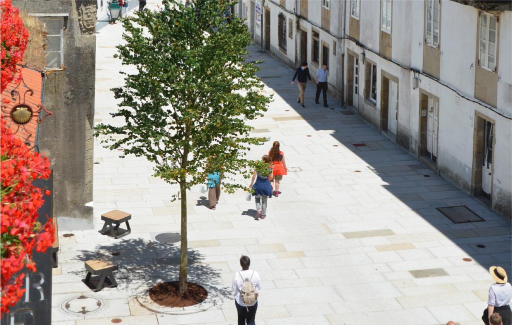 Reurbanización Calle Carretas en Santiago - Vista aérea