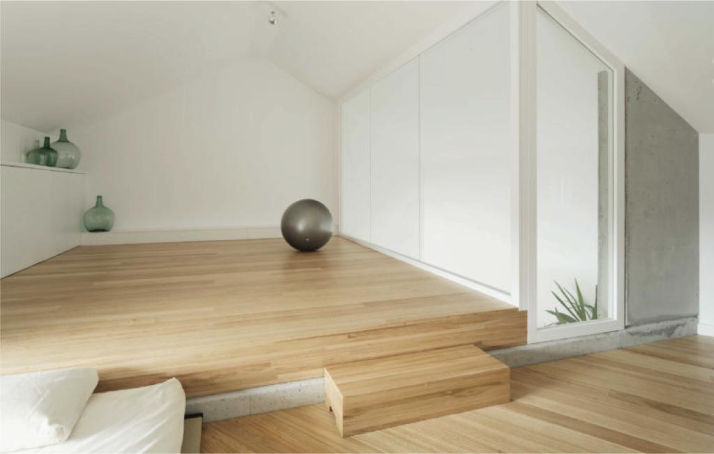 Vivienda unifamiliar certificada con el estándar passivhaus en Cachóns -Interior-buhardilla