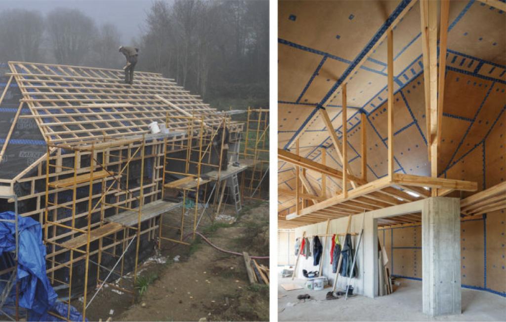 Vivienda unifamiliar certificada con el estándar passivhaus en Cachóns - Construcción esqueleto